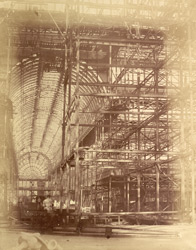 Lower Part Of The Scaffolding For The Erection Of The Great Transept Ribs